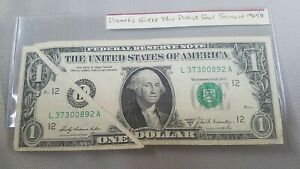 Uncirculated G//A FRN 1969B $1