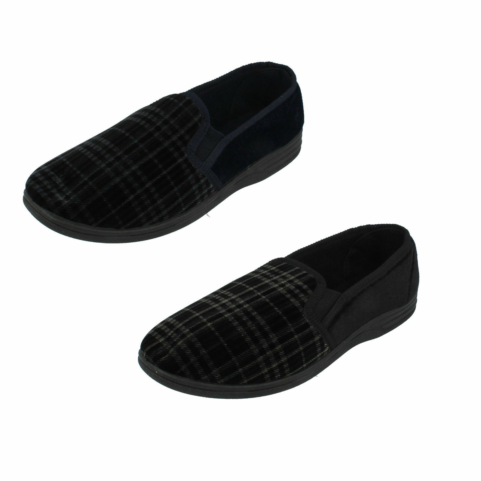 MENS QUALITY SLIPPERS SLIP ON TWO SIDE MS60 GUSSETS INDOOR SHOES MOCCASINS MS60 SIDE fe925b