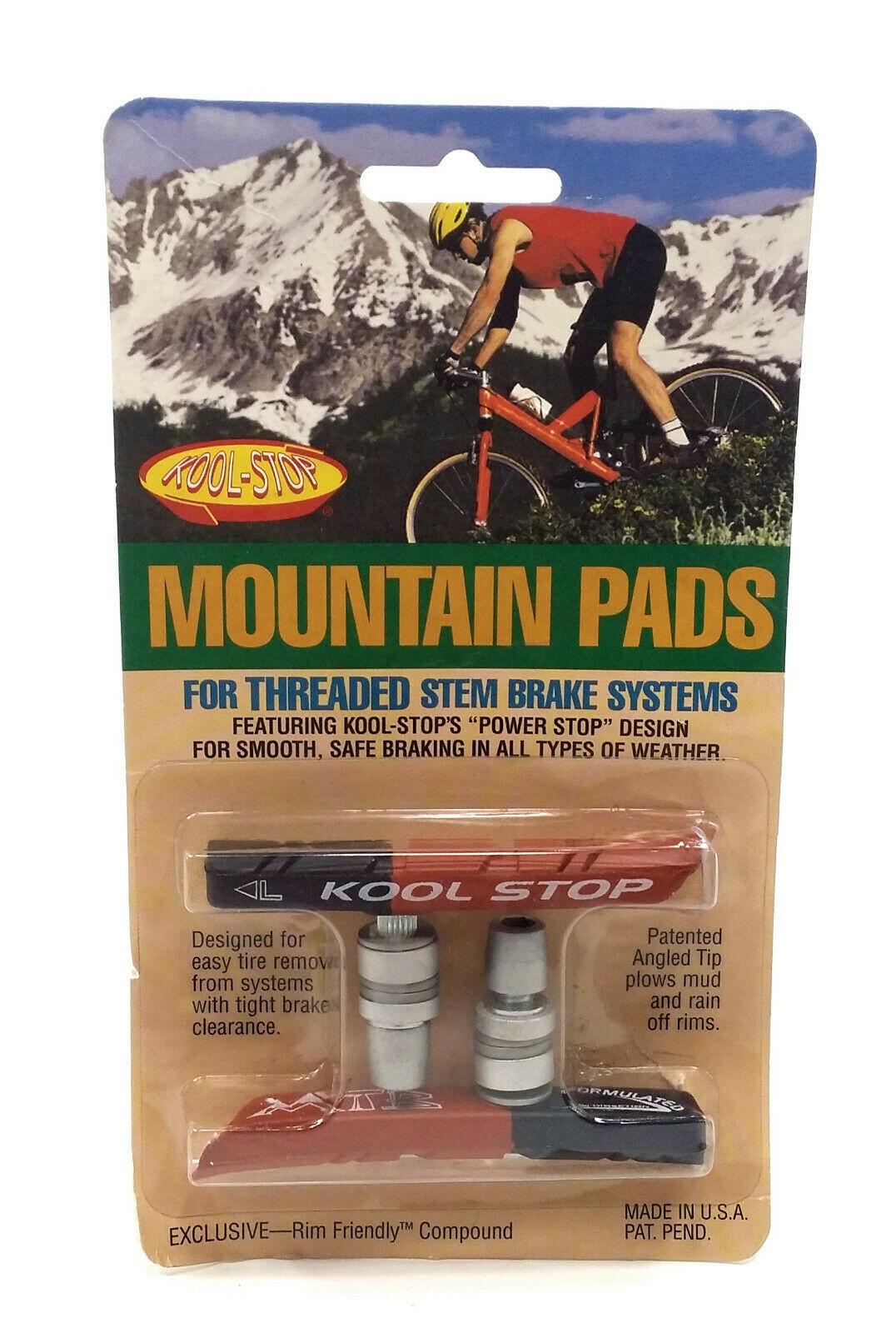 Kool-Stop Linear Pull Replacement Brake Pads Salmon Compound for sale online