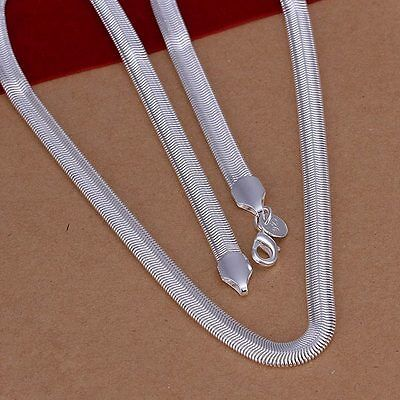 925 Sterling Silver Plated 6mm snake 16-24inches chain nice necklace jewelry