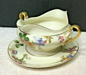 Rosenthal Ivory The Sunray Gravy Boat w Attached Underplate Excellent Shape