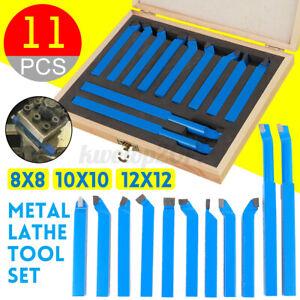 11Pcs 8//10//12mm Metal Carbide Lathe Tool Set Cutting Turning Boring CNC BIT