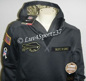 8cf305ae Details about BILLS Nike Therma Fit Salute To Service Troop Military Camo  HOODIE Youth S or M