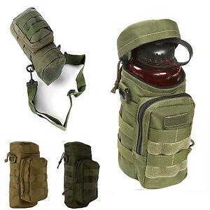 4d80ec127f39 Image is loading Tactical-Molle-Water-Bottle-Pouch-Kettle-Carrier-Zipper-