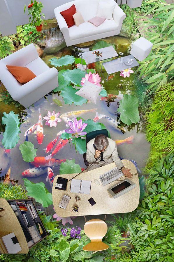 3D Etang 8 Fond d'écran étage Peint en Autocollant Autocollant Autocollant Murale Plafond Chambre Art   Supérieure  5e5979