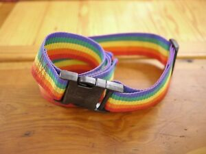 Vintage-1980s-Rainbow-Nylon-Webbing-Luggage-Adjustable-Strap-70-x-2