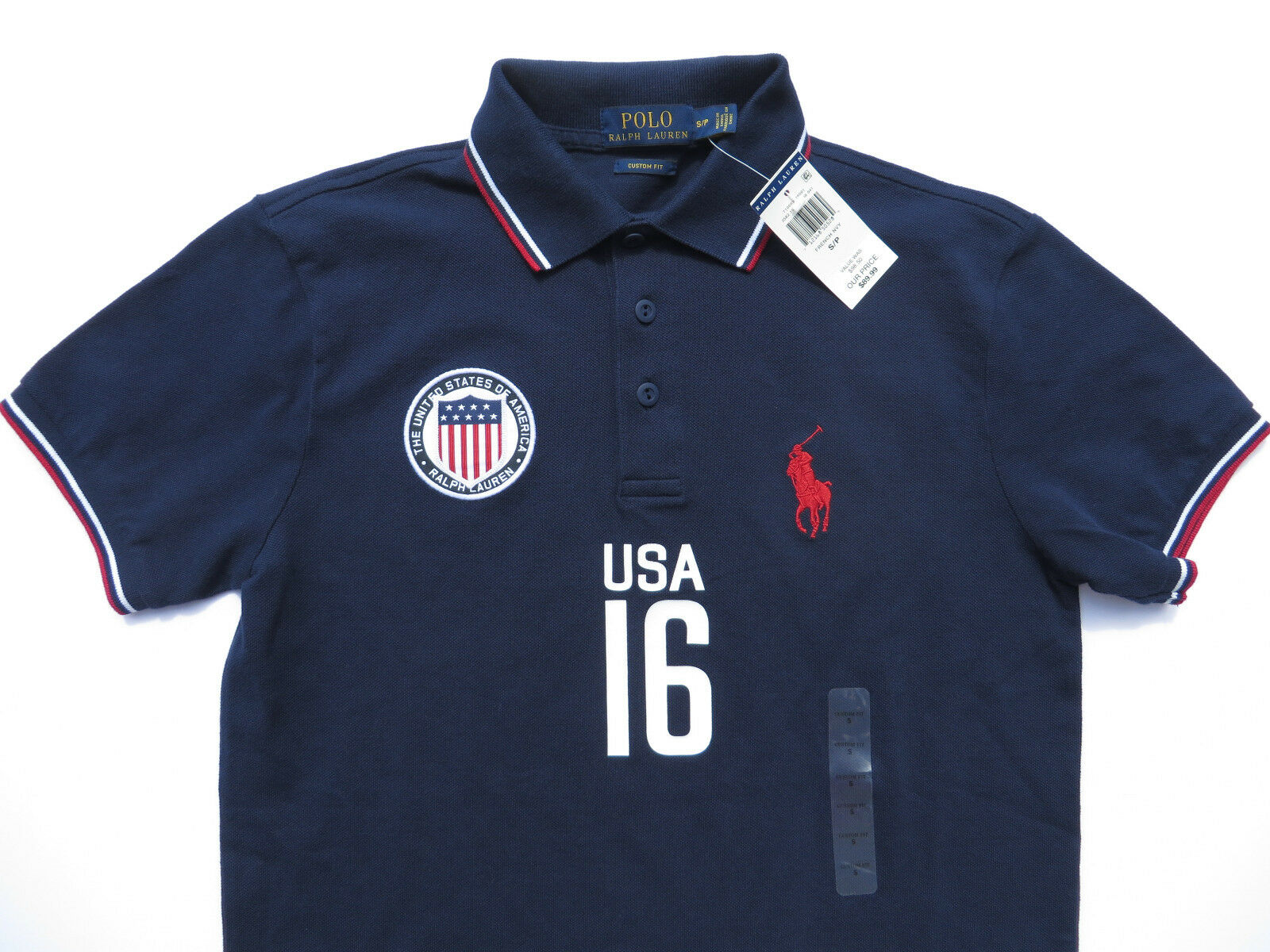 RALPH LAUREN POLO USA Mens Shirt Small Large NEW bluee Big Pony US country NWT