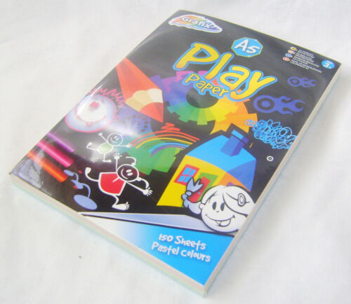 NEW PACK OF A5 PLAY PAPER PASTEL COLOURED 150 SHEETS GRAFIX