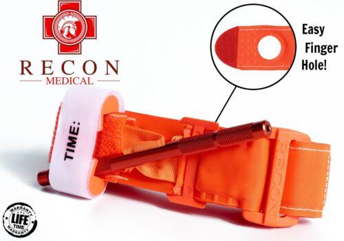 Tourniquet Recon Medical Gen 3 Mil-Spec Kevlar Metal Windlass Aluminum ORANGE