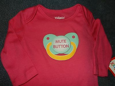 "Infant Girl 0 3 6 9 Months Baby One Piece /""Please Don/'t Squeeze The Cheeks/"""