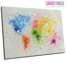 Michael tompsett paint splashes world map 16 x 24 canvas art id ab347 world map paint splatter abstract canvas wall art 16x24 picture print gumiabroncs Gallery