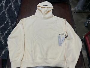 Fear of God Essentials Pull-Over Hoodie - Cream - Size Small