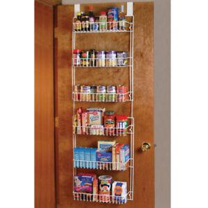 Image is loading Over-the-Door-Storage-Rack-Kitchen-Pantry-Shelf-  sc 1 st  eBay & Over the Door Storage Rack Kitchen Pantry Shelf Organizer Spice ...