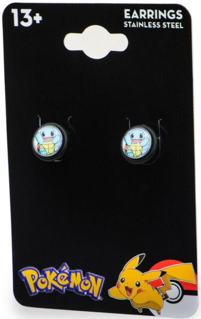 Pokemon Earrings Squirtle 18g Faux Plug  - BRAND NEW