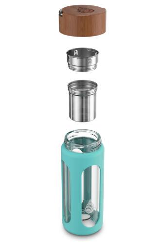 INVIGORATED WATER 10oz//300ml ! pH Hydrate Glass Alkaline Water Filter Bottle