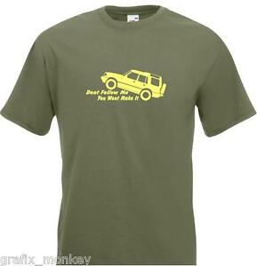 Land-Rover-Discovery-039-Don-039-t-Follow-Me-039-Adult-T-Shirt