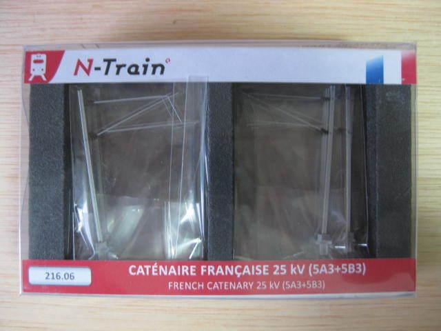FR - N-train - ref.216.06 - Poteaux à consoles SNCF 25 kV  10 pièces   5A3+5B3