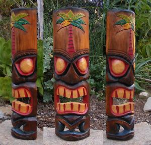 Image Is Loading Hawaiian Palm Tree Tiki Wood Wall Mask Patio