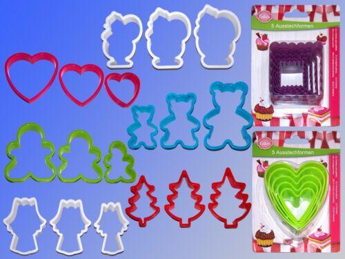 3 pièces set biscuits emporte-pièce, terrasse emporte-pièce, keksform, gâteaux forme