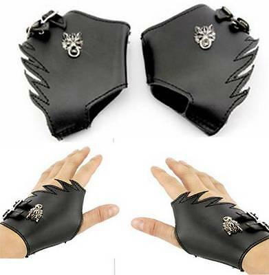 Final Fantasy FF VII 7 Wolf Head Cosplay Leather Gloves Collection
