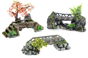 Bridges aquarium ornament fish tank decoration wooden for Aquarium bridge decoration