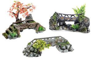 Bridges aquarium ornament fish tank decoration wooden for Aquarium bridge decoration