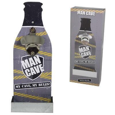 ' Man Cave ' Birra Apribottiglie Con Vassoio - Di Padre Regalo Di Giorno