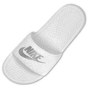 Nike Benassi Jdi  White Flip Flops  Women