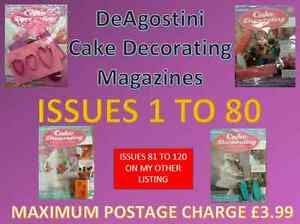 Deagostini Cake Decorating Magazine New With Gifts Issues 1 To 80