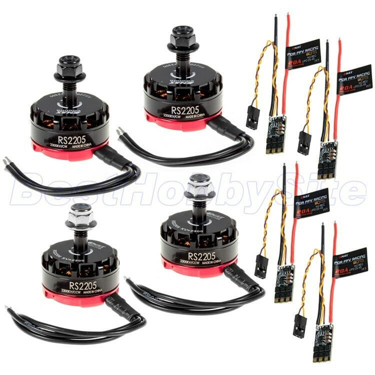 4x EMAX Iluminación 20 A Esc +4x RS2205 2300 kV Motor sin Escobillas CW CCW Racing Drone