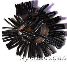 "40x5mm Black Natural Sponge Coral Fancy Branch Beads 15"" (CO180)c"