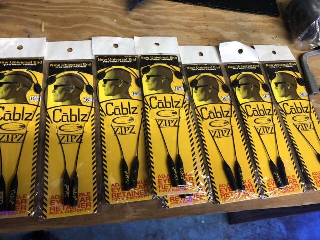 "CABLZ Sunglasses Glasses Holder ZIPZ Black 12/"" Adjustable Eyewear Retainer Sport"