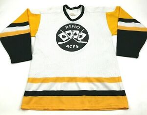 VINTAGE CCM Reno Aces Hockey Jersey Size Large Adult Team Issue GAME WORN 1970