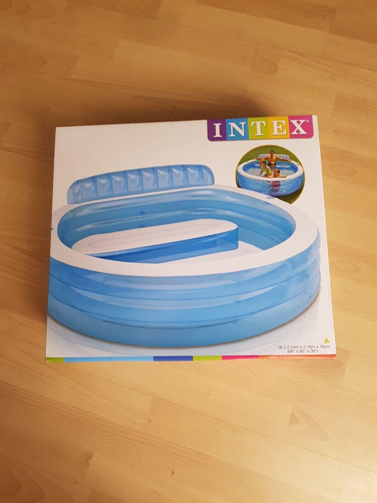 INTEX Swim Center Lounge Family  Pool Rund Planschbecken Kinderpool