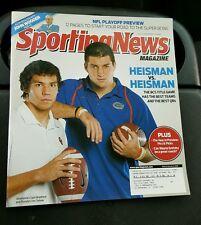 TIM TEBOW & SAM BRADFORD Sporting News Magazine 2009 John Wooden NFL Playoffs