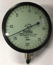Federal D6q Dial Indicator 0 100 Range 001 Lug Back