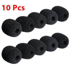 10pcs-Practical-Small-Black-Microphone-Headset-Windscreen-Sponge-Foam-Mic-Cover