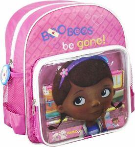 Image is loading NEW-OFFICIAL-Doc-McStuffins-Disney-Girls-Kids-Backpack- 9b2738124d45b