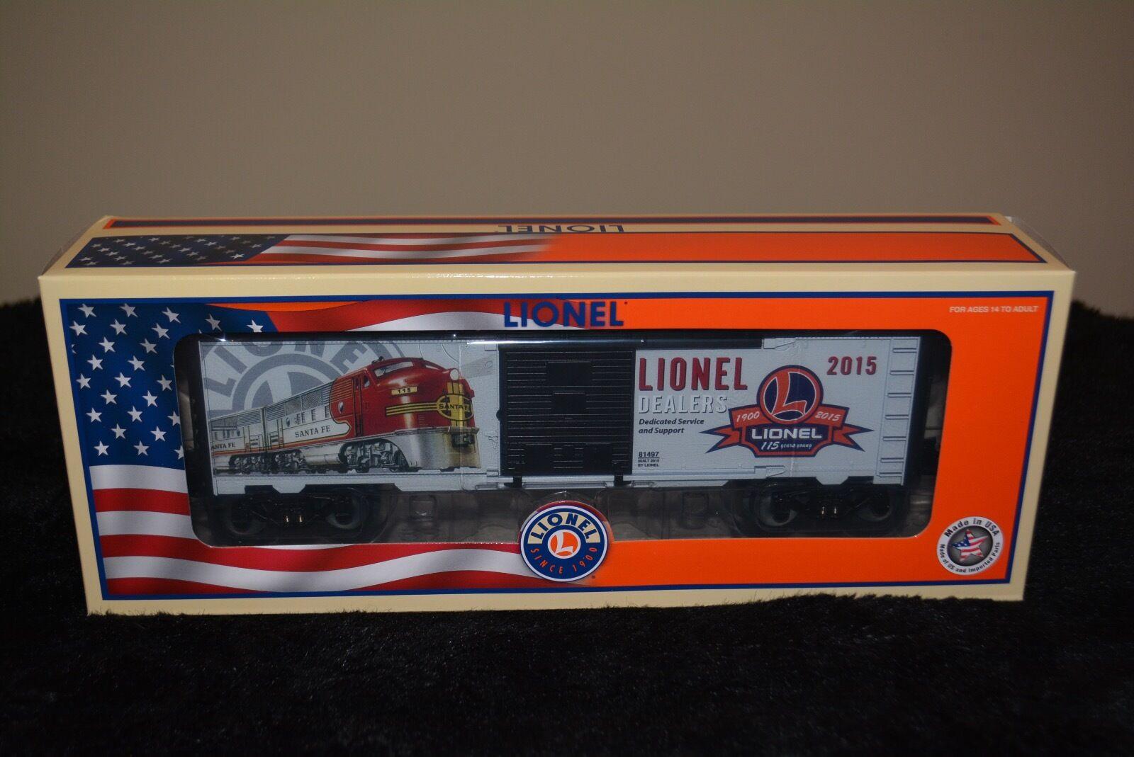 BRAND NEW IN BOX Lionel 2015 Dealer Boxcar 6-81497