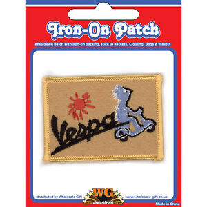 Vespa-Scooter-Iron-On-Patch-Classic-Vintage-Moped-Nostalgic-Gift