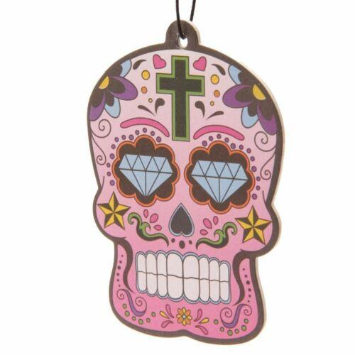 6 skull airfreshers cherry 6 Totenköpfe Lufterfrischer Kirsche,Tag der Toten