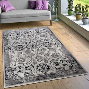 Grey Oriental Rug Small Extra Large Shabby Chic New Carpet ...