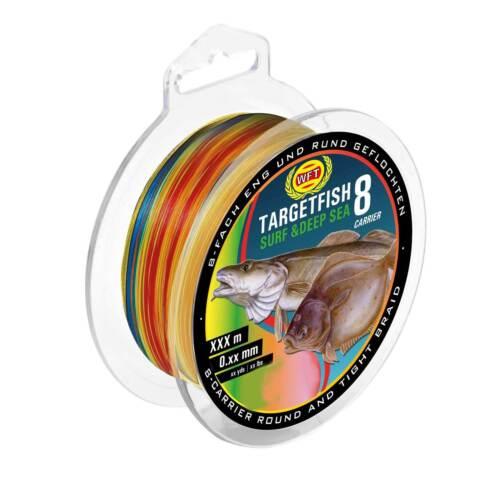 Target Fish 8 Surf DeepSea multicolor 300m 0,20mm 0,08EUR//m WFT Schnur