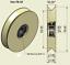 78 mm Nylon Pulley Wheel 10 mm Bearing Bore 90 Deg V Groove CNC Guiding Rail