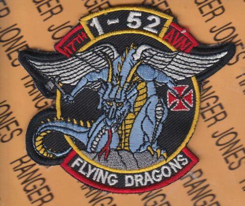 "1st Bn 52nd Aviation Bn 17th Regt FLYING DRAGONS 3.75/"" pocket patch"
