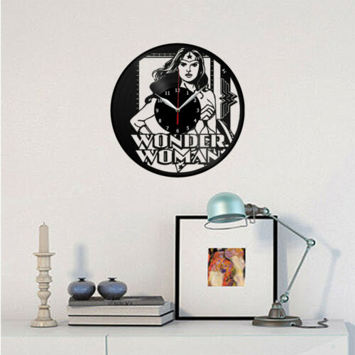 Wonder Woman Vinyle Horloge Murale Décor Fan art cadeau original fait main 3707