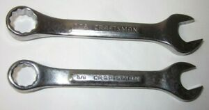 Craftsman-U-S-A-VV-2-Pc-12-Pt-Stubby-Combination-Wrenches-3-8-034-amp-7-16-034