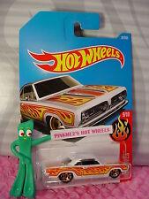 '68 PLYMOUTH BARRACUDA FORMULA S #87✰white;orange✰Flames✰2017 i Hot Wheels D/E