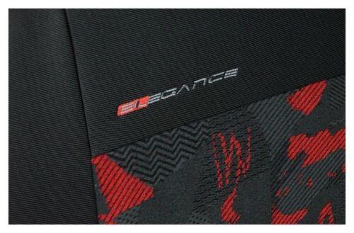2 CAR SEAT COVERS fit Skoda Fabia charcoal grey//redpair front seat covers