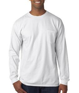 Comfort-Colors-Men-039-s-6-1-oz-Long-Sleeve-Pocket-T-Shirt-C4410-S-3XL